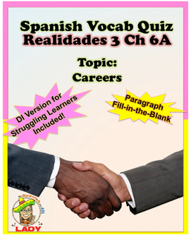 Spanish Vocab Quiz: Realidades 3 Chapter 6A