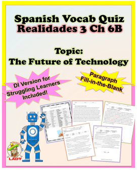 Spanish Vocab Quiz: Realidades 3 Chapter 6B