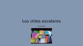 Spanish Vocab School Supplies Ppt