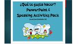 Spanish Vocab for Activities PowerPoint & Speaking Activit