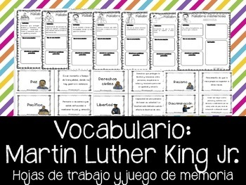 Martin Luther King Jr. - Vocabulario de Ideales. Vocabulary-Sp.MLK ideals