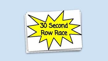Spanish Vocabulary 30 Second Race Game (Realidades 1B)