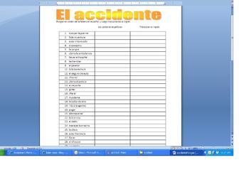Spanish Vocabulary (Accident)