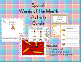 Spanish Writing and Vocabulary Activities for Every Month