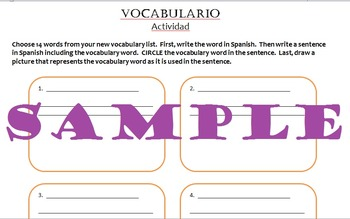 Spanish Vocabulary Activity (for any level)
