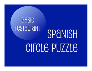 Spanish Vocabulary Activity Bundle:  Basic Restaurant