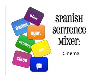 Spanish Vocabulary Activity Bundle:  Cinema