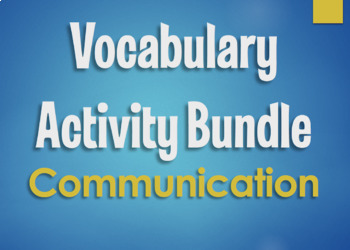 Spanish Vocabulary Activity Bundle:  Communication