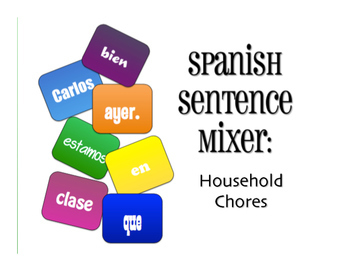 Spanish Vocabulary Activity Bundle:  Household Chores