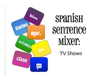 Spanish Vocabulary Activity Bundle:  TV Shows