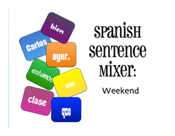 Spanish Vocabulary Activity Bundle:  Weekend