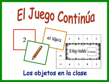 Spanish Classroom Objects Activity for Groups, Inventive T