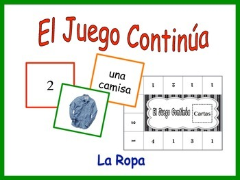 Spanish Clothing Activity for Groups, Inventive Twist on Memory