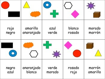 Spanish Colors Activity for Groups, Twist on Memory