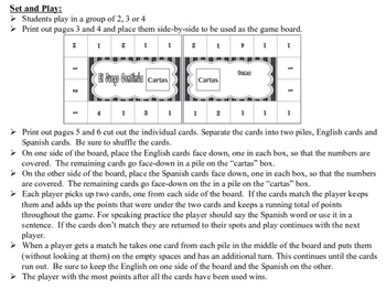 Spanish Days and Months Activity for Groups, Inventive Twist on Memory