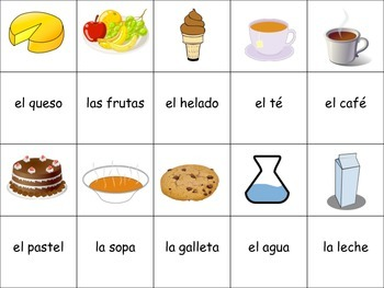 Spanish Food and Drinks Activity for Groups, Inventive Twist on Memory