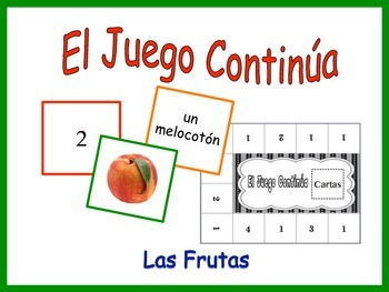Spanish Fruit Activity for Groups, Inventive Twist on Memory