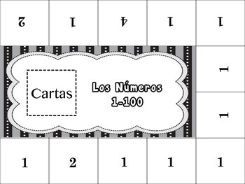 Spanish Numbers 1-100 Activity for Groups, Inventive Twist on Memory