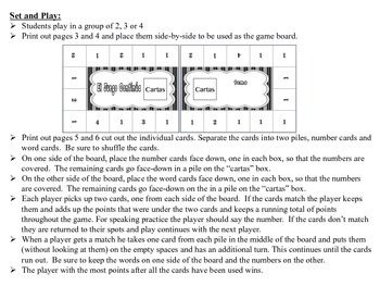 Spanish Numbers 1-59 Activity for Groups, Inventive Twist on Memory