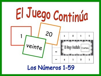 Spanish Numbers 1-59 Activity for Groups, Inventive Twist