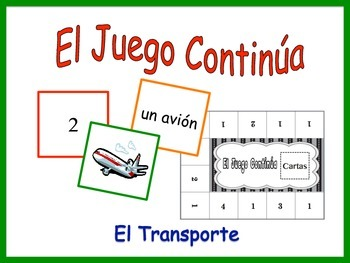 Spanish Transportation Activity for Groups, Inventive Twist on Memory
