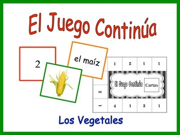 Spanish Vegetables Activity for Groups, Inventive Twist on Memory