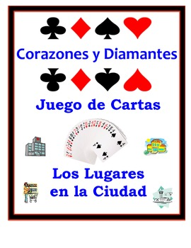 Spanish City Locations Speaking Activity: Playing Cards, Groups