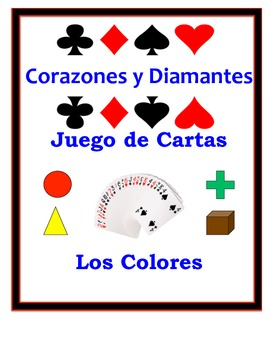 Spanish Colors Speaking Activity: Playing Cards, Groups