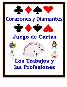 Spanish Jobs and Professions Speaking Activity: Playing Cards, Groups