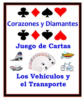 Spanish Transportation Speaking Activity: Playing Cards, Groups