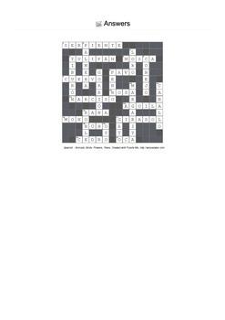Spanish Vocabulary - Animals, Birds, Flowers and Trees Crossword Puzzle