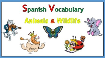 Spanish Vocabulary - Animals and Wildlife (PowerPoint)