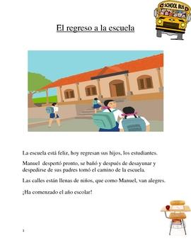Spanish Vocabulary - Back to School