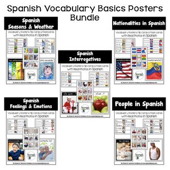 Spanish Vocabulary Basics Posters Bundle