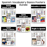 Spanish Vocabulary Basics Posters Bundle
