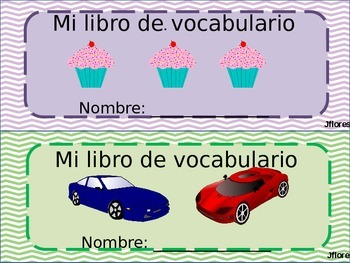 Spanish Vocabulary Book - Libro de vocabulario