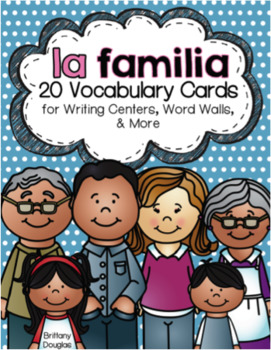 Spanish Vocabulary Bundle: Writing Centers and Word Wall Sets