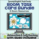 Spanish Vocabulary Bundle of Digital BOOM™ Task Cards w Au