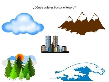 Búsqueda del Tesoro Interactive Spanish Reading Activity