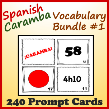 Spanish Vocabulary Caramba Cards (Bundle 1)