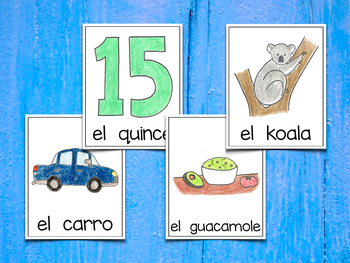 Spanish Vocabulary Cards - Banco de palabras (Consonantes que coinciden c-k-q)