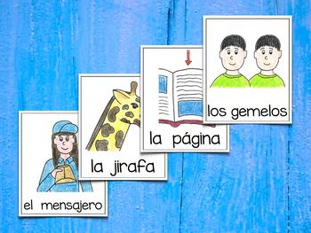 Spanish Vocabulary Cards - Banco de palabras (Consonantes que coinciden j-g)