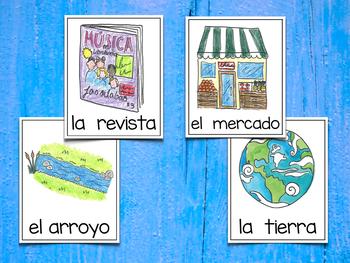 Spanish Vocabulary Cards - Banco de palabras (Consonantes que coinciden r-rr)