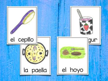 Spanish Vocabulary Cards - Banco de palabras (Consonantes que coinciden y-ll)