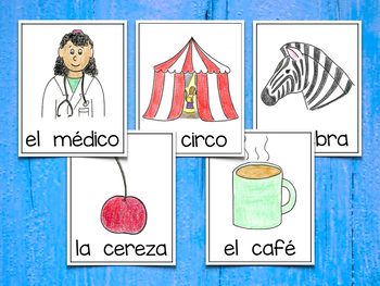 Spanish Vocabulary Cards - Banco de palabras (Polifacéticas C)