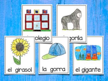 Spanish Vocabulary Cards - Banco de palabras (Polifacéticas G)