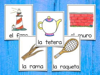 Spanish Vocabulary Cards - Banco de palabras (Polifacéticas R)