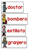 Spanish & English Vocabulary Cards {Community Helpers}