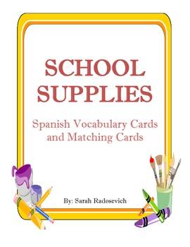 School Supplies/Los útiles escolares- Spanish Vocabulary C