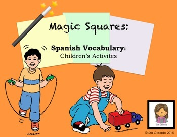 Spanish Vocabulary: Children's Games and Puzzle Activities